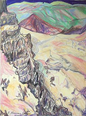 Drawing - Down Masada by Esther Newman-Cohen