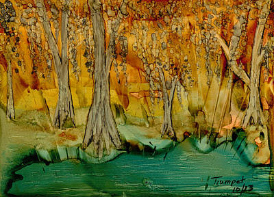 Painting - Down On The Bayou by Laurie Williams