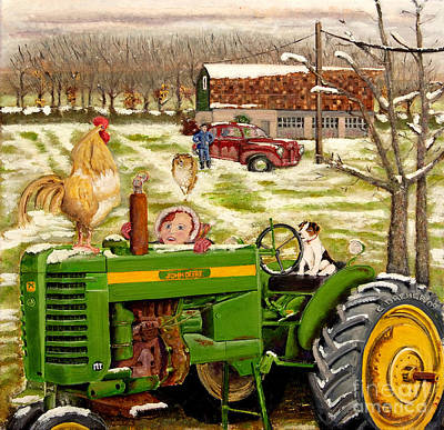 Painting - Down On The Farm by Chris Dreher