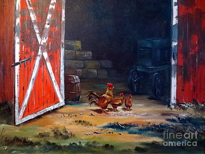 Art Print featuring the painting Down On The Farm by Lee Piper