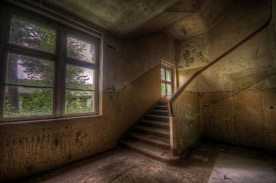 Digital Art - Down Stairs by Nathan Wright