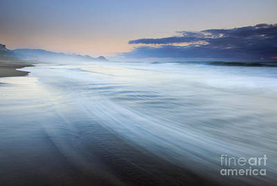 Down The Beach Art Print by Mike  Dawson