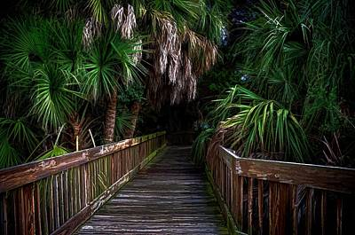 Art Print featuring the photograph Down The Boardwalk by Pamela Blizzard