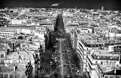 Photograph - Down The Boulevard In Paris by John Rizzuto
