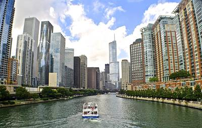 Down The Chicago River Art Print by Frozen in Time Fine Art Photography