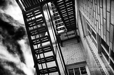 Photograph - Down The Fire Escape by John Rizzuto