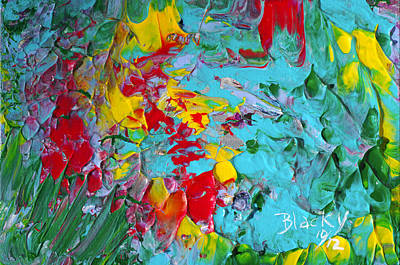 Abstract Expressionist Painting - Down The Garden Path by Donna Blackhall