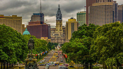 William Penn Digital Art - Down The Parkway by Capt Gerry Hare