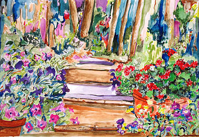 Painting - Down The Path by Esther Newman-Cohen