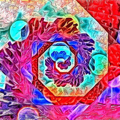 Digital Art - Down The Rabbit Hole by Karen Buford