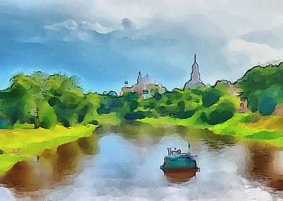 Siberia Digital Art - Down The River by Yury Malkov