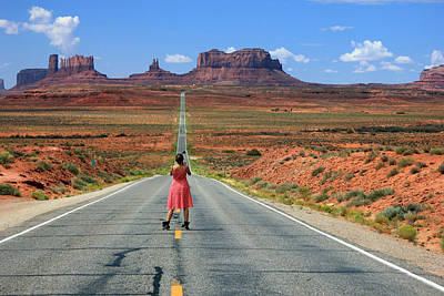 Photograph - Down The Road To Monument Valley by Johnny Adolphson