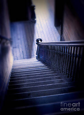 Photograph - Down The Stairs In Abandoned Building by Jill Battaglia
