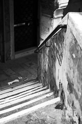 Venice Photograph - Down The Steps In Venice by John Rizzuto