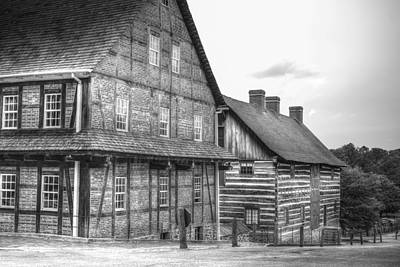 Down The Street In Old Salem Print by Diego Re