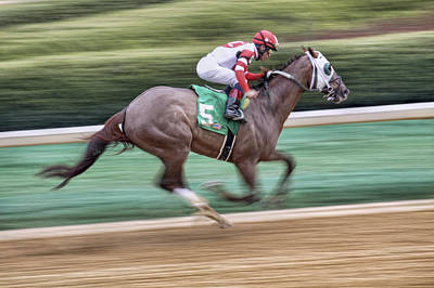 Photograph - Down The Stretch - Horse Racing - Jockey by Jason Politte