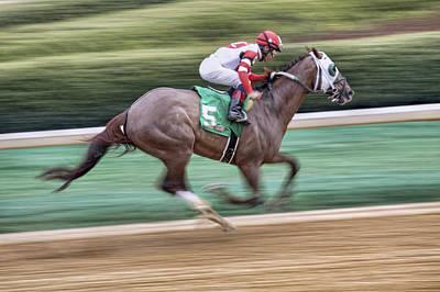 Down The Stretch - Horse Racing - Jockey Art Print by Jason Politte