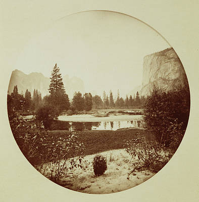 Yosemite National Park Drawing - Down The Valley, Yosemite Carleton Watkins by Litz Collection