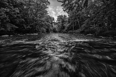Water Filter Photograph - Down Through The Middle by CJ Schmit
