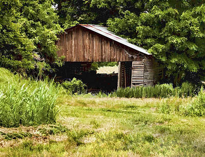 Photograph - Down To The Barn by John Crothers