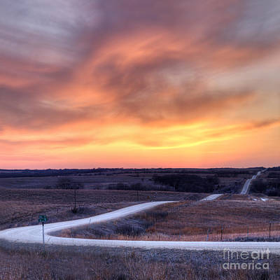 Sunset Photograph - Down To The Rolling Hills by Art Whitton