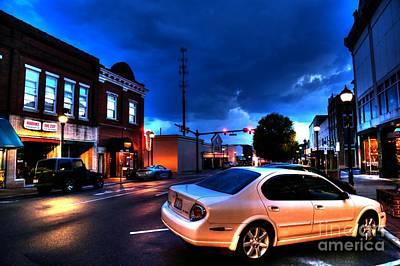 Down Town Lenoir North Carolina Original by Robert Loe