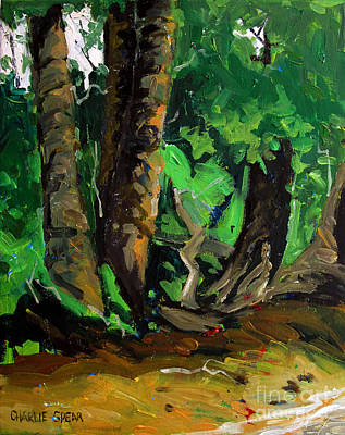 Indiana Landscapes Painting - Down Where The Sunnies Hide by Charlie Spear
