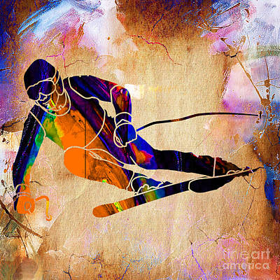 Downhill Racer Art Print