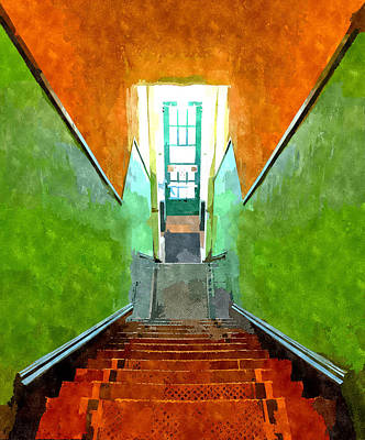 Painting - Downstairs by Rick Mosher