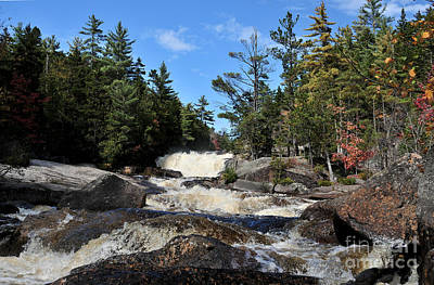 Impressionist Landscapes - Downstream Big and LIttle Niagara Falls Baxter State Park 634 by Terri Winkler