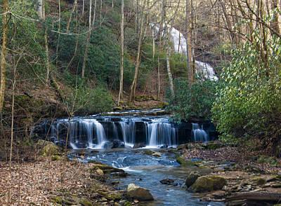 Digital Art - downstream from Pearsons Falls by Chris Flees
