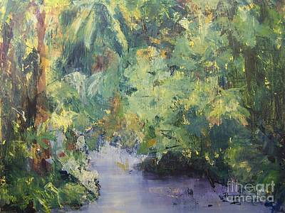 Art Print featuring the painting Downstream by Mary Lynne Powers