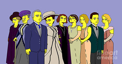 Art Print featuring the digital art Downton Abbey - Cast Nine by Donna Huntriss