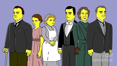 Art Print featuring the digital art Downton Abbey - Downstairs 6 by Donna Huntriss