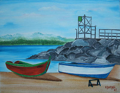 Painting - Downtown Aguadilla by Gloria E Barreto-Rodriguez