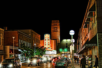 Downtown Ann Arbor Art Print by Pat Cook