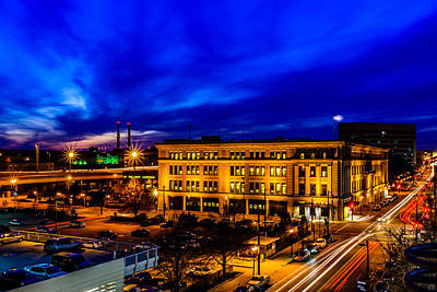 Clouds Rights Managed Images - Downtown at Dusk Royalty-Free Image by Randy Scherkenbach