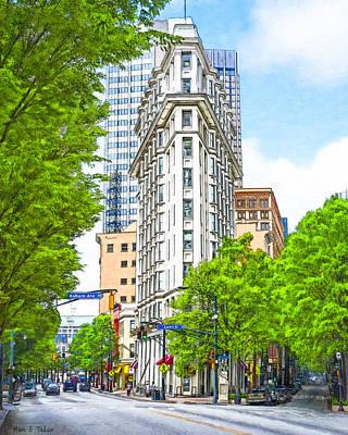 Downtown Atlanta - The Flatiron Building Art Print