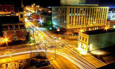 Photograph - Downtown Avery Street At Night by Jonny D