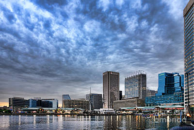 Baltimore Inner Harbor Photograph - Downtown Baltimore by Olivier Le Queinec