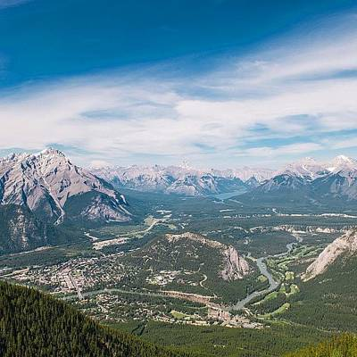 Wallpaper Photograph - Downtown Banff Alberta by Andrew Burgos
