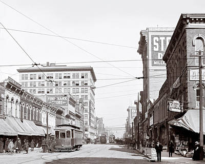Downtown Birmingham Alabama - A Century Ago Art Print