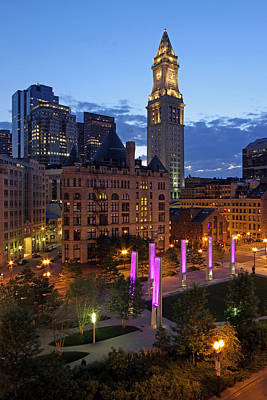 Installation Art Photograph - Downtown Boston With The Custom House Tower by Juergen Roth