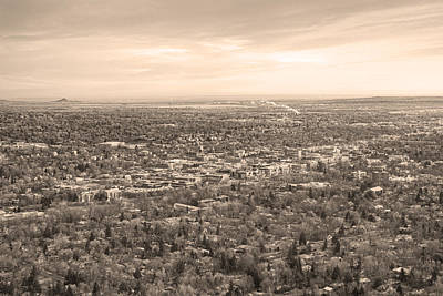 Photograph - Downtown Boulder Colorado Morning Sepia View by James BO  Insogna