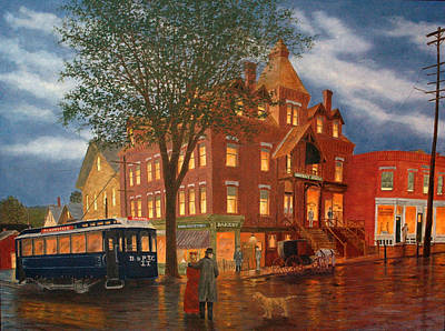 Art Print featuring the painting Downtown Bristol by Rick Fitzsimons