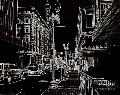 Digital Art - Downtown By Angelia by Angelia Hodges Clay