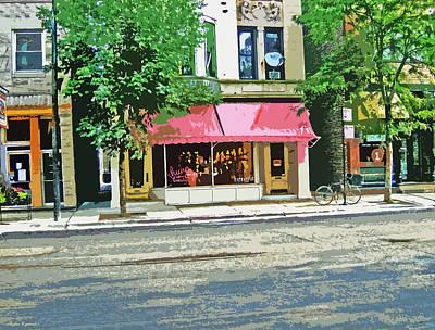 Downtown Cafe Art Print
