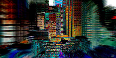 Downtown Chaos Art Print by Stuart Turnbull