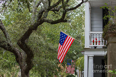Photograph - Downtown Charleston Americana by Dale Powell
