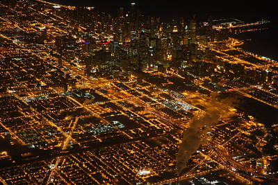 Art Print featuring the photograph Downtown Chicago At Night by Nathan Rupert